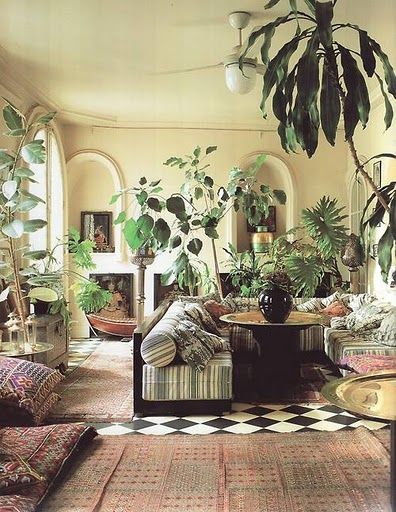 The interior plants add much to this beautiful space