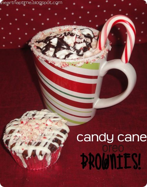 Christmas - Candy Cane Oreo Brownies