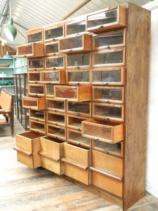 Crazy office design ideas an oak haberdashery cabinet for Arts and crafts storage cabinet