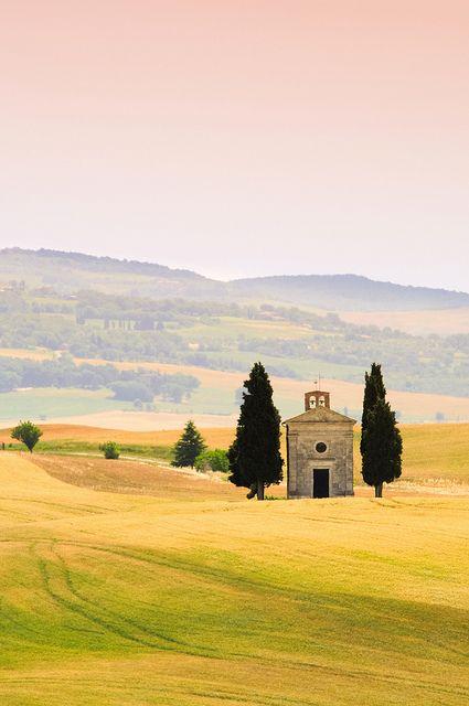 Vitaleta chapel in Tuscany, Italy