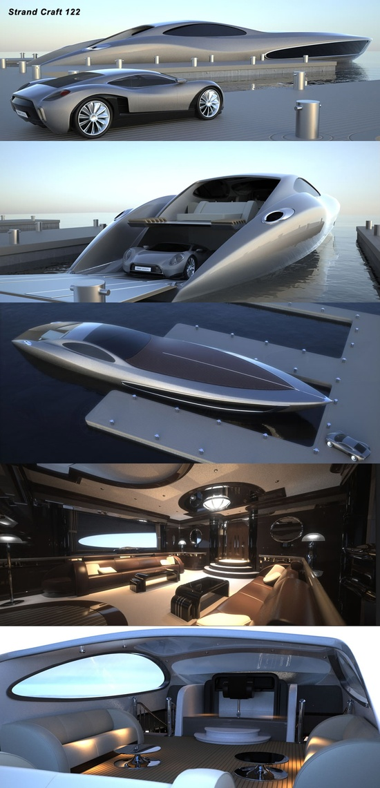 Yacht comes with sports car