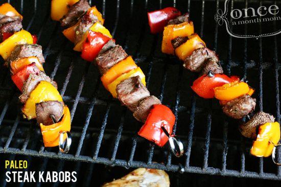 Paleo Steak Kebabs #paleo #freezer