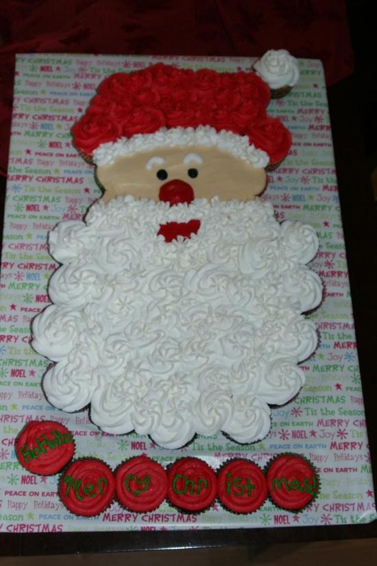 Santa Cupcake Cake!