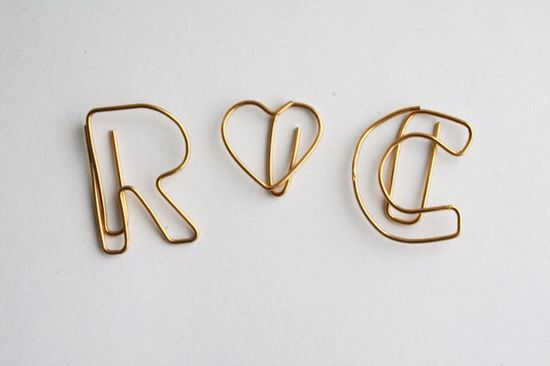 DIY paperclips - just use jewelry wire and pliers