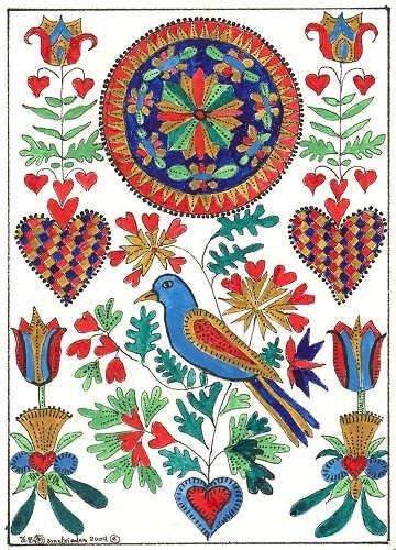 Bird in folk art.  $5