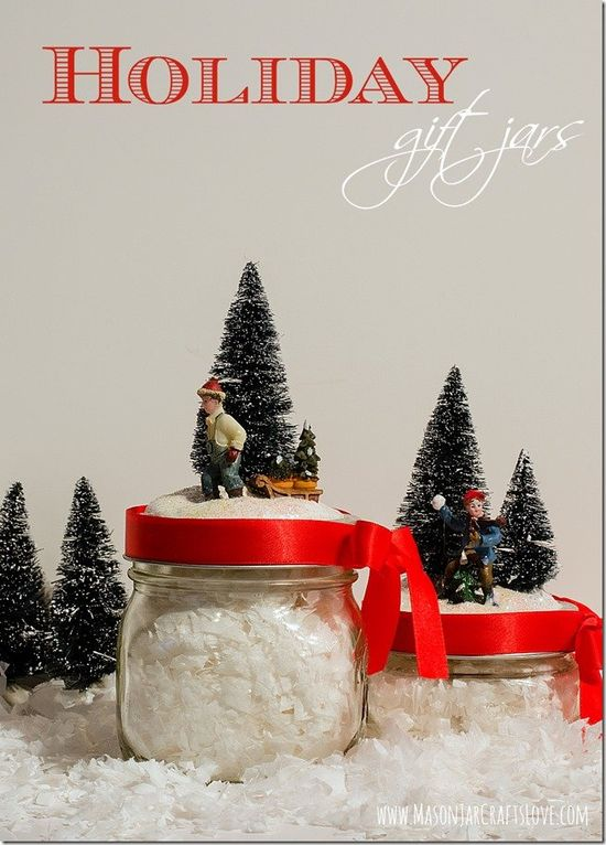 Festive holiday gift jars #DIY