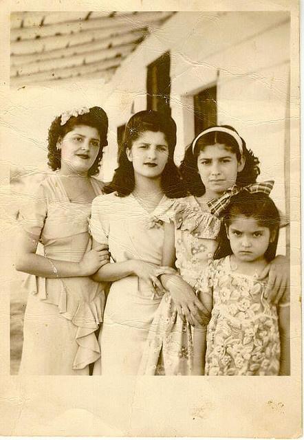 Four lovely 1940s sisters. #vintage #1940s #women #girls
