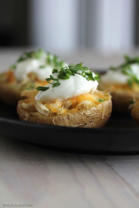 Lightened Baked Potato Boats