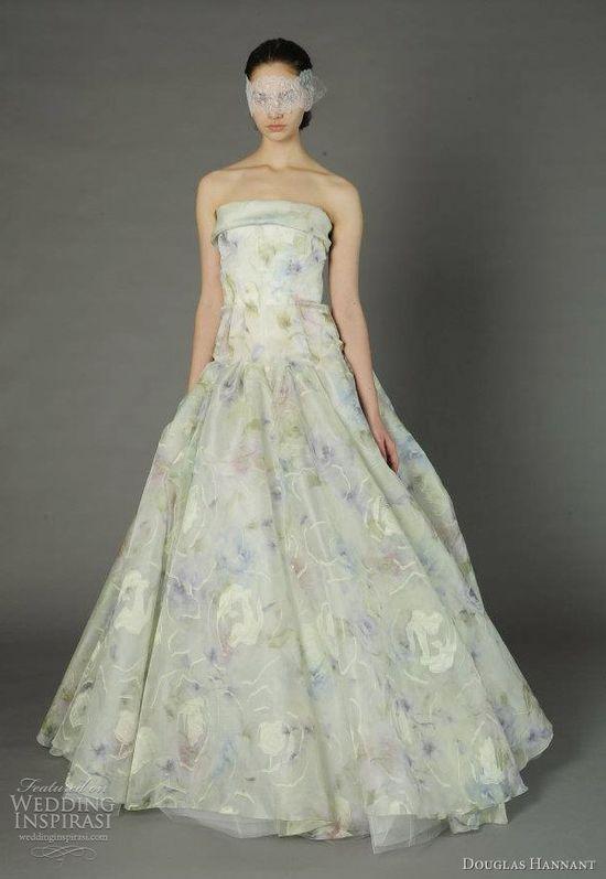 douglas hannant spring 2013 color wedding dress