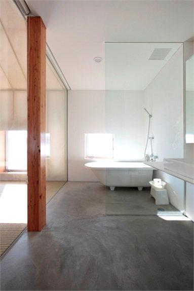 Même – Experimental House - Hiroo District, Japan - 2012 - Kengo Kuma and associates #architecture #japan #design #hiroo #bathroom