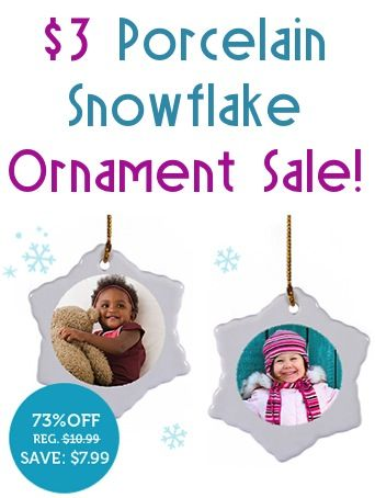 Porcelain Snowflake Ornament Sale: $3.00 + s/h!  {make one for your tree, or give one as a fun gift!}