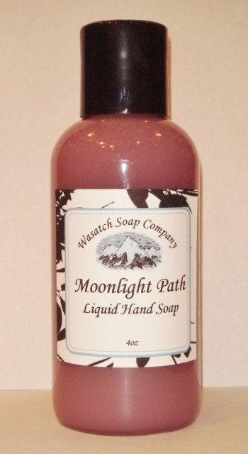 Moonlight Path Handmade Liquid Soap  All Natural - Sensual, sophisticated and romantic, Moonlight Path has lavender, rose, violet and