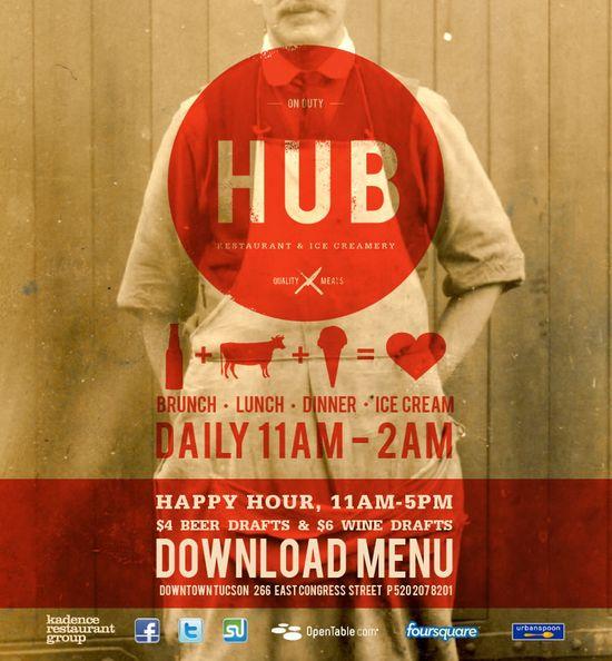 The Hub.... great food