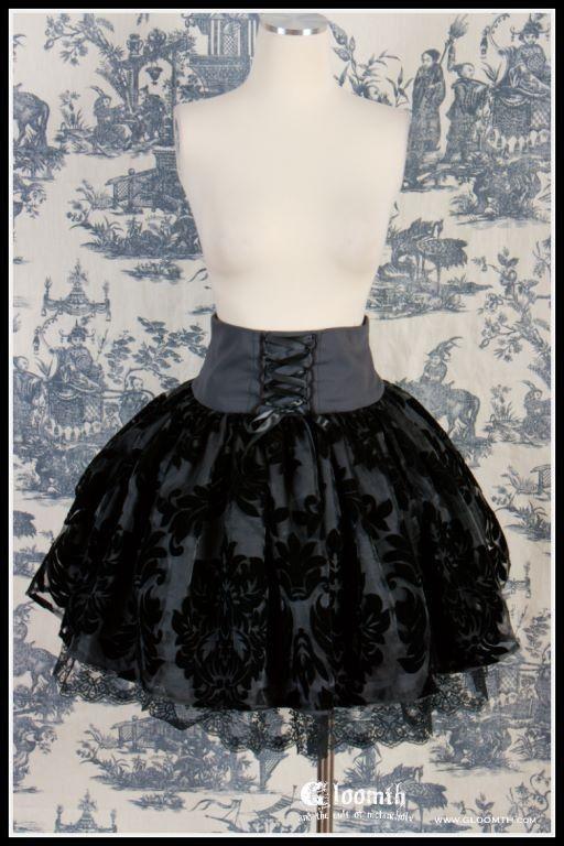 corset damask skirt