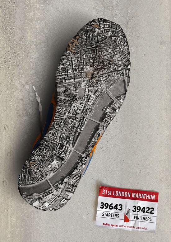 Reflex Spray, Marathon - London, 2011 by  Contrapunto Barcelona
