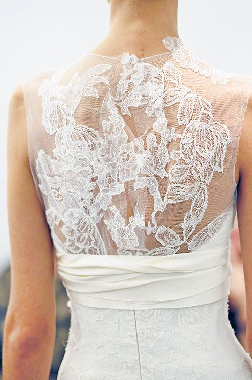 Illusion wedding dress back from Vera Wang, Fall 2013