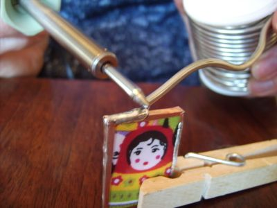 tutorial for soldering a glass pendant