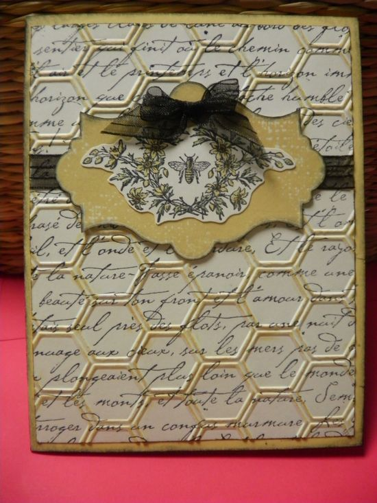 Stampin Up - Honeycomb embossing folder, Honeybee Card