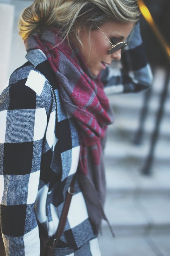 mixing plaids // fall & winter fashion