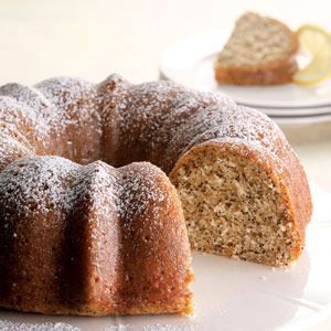 We love that Bundt cakes don't demand frosting--just let a sweet lemon glaze run over the poppy-seed cake and you've got perfection.