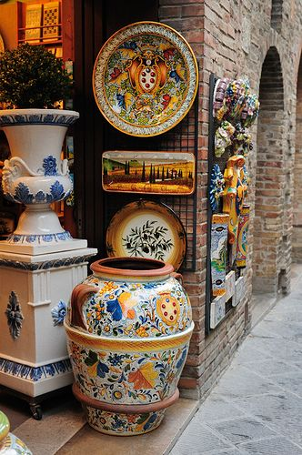 #italy  #tuscany   #pottery Colorful Tuscany Pottery
