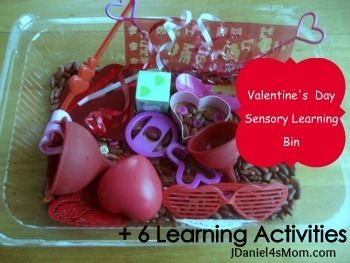 Valentine's Day Sensory Bin by JDaniel4's Mom
