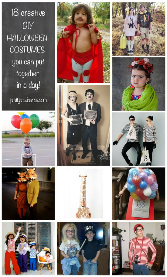cheap DIY halloween costumes you can put together in a day!