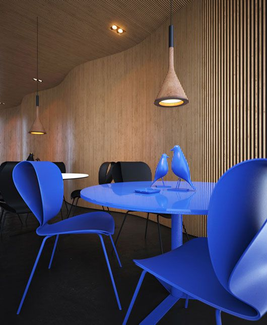 Blue table & chairs