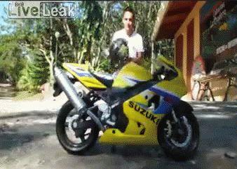 Insane Motorbike Stunt! - Imgur