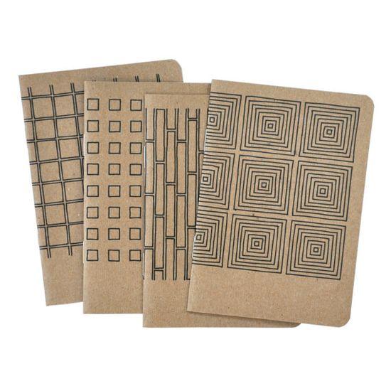 4 Pocket Notebooks, Geometric No.1. - Pawling