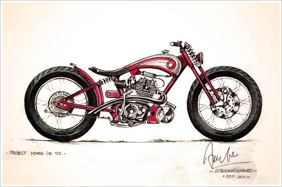 Honda CB125 custom project