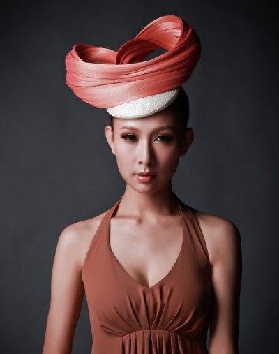 Twisted jinsin beret fascinator. $185.00, via Etsy.