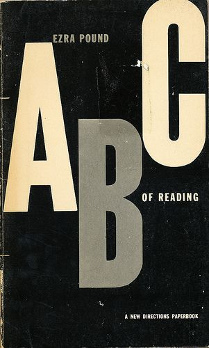Ezra Pound's ABC of Reading cover by Alvin Lustig