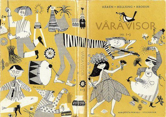 Swedish song book for children. Cover by Ylva Källström, 1965.