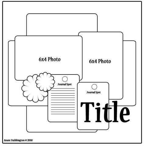 scrapbook layout...