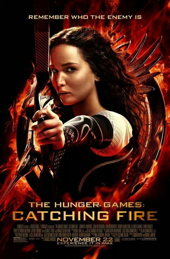 """The official movie poster for """"Catching Fire"""""""