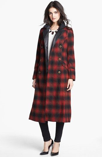 free people plaid coat