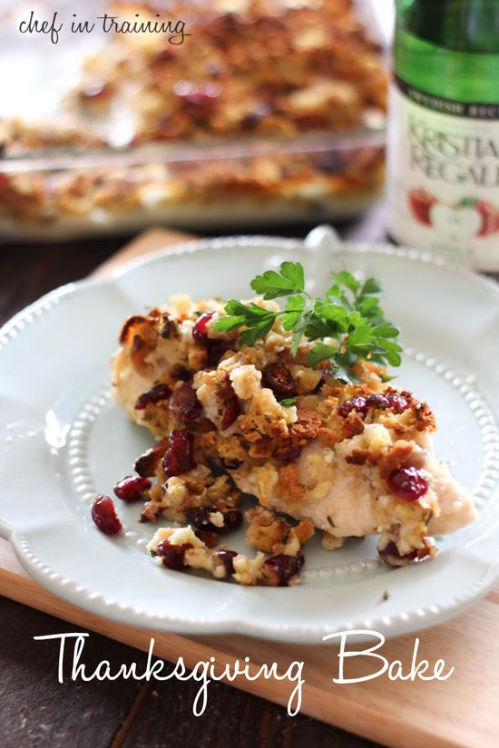 Thanksgiving Bake!... All the yummy flavors of Thanksgiving wrapped up into one incredible dish! #thanksgiving #dinner
