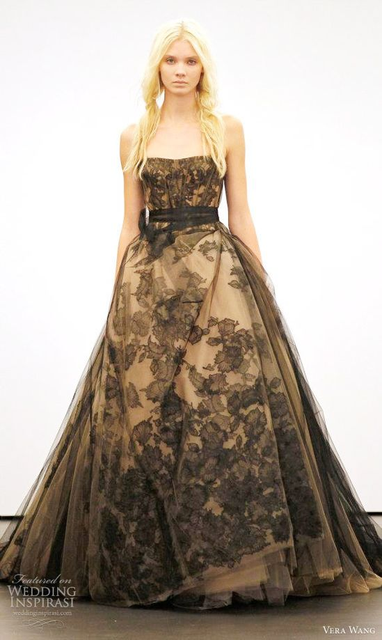 vera wang 2012 black wedding dress