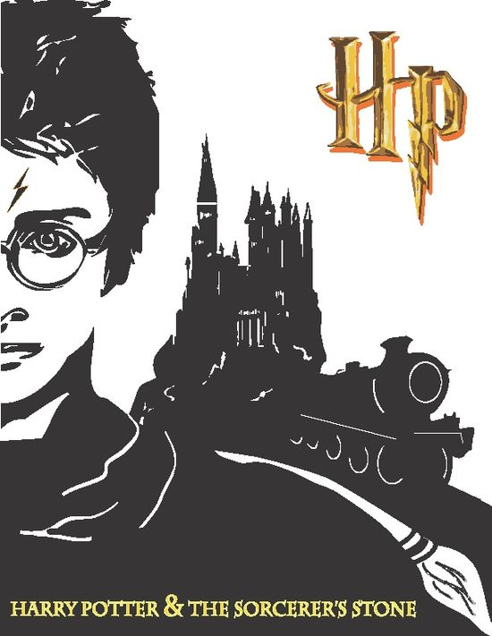 Harry Potter Series Book Covers - Book 1