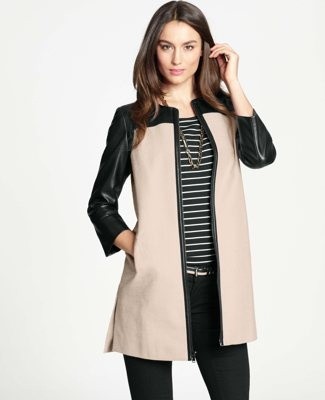 .@AnnTaylor faux #leather jacket