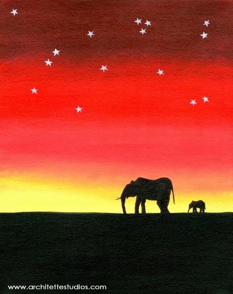 Lone Elephants