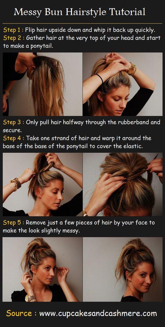 Messy Bun Hairstyle Tutorial