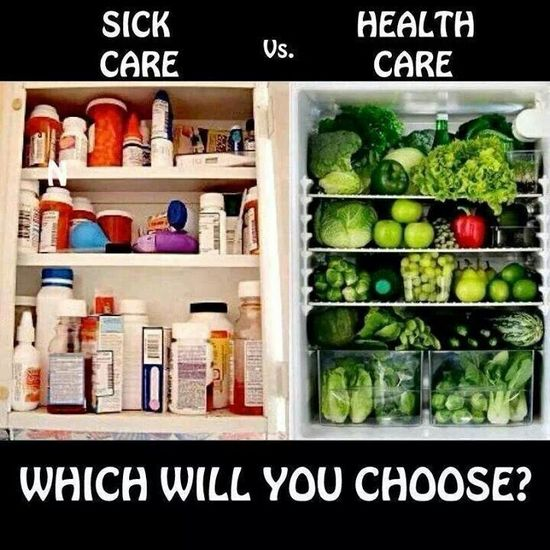 Sick care vs health care.