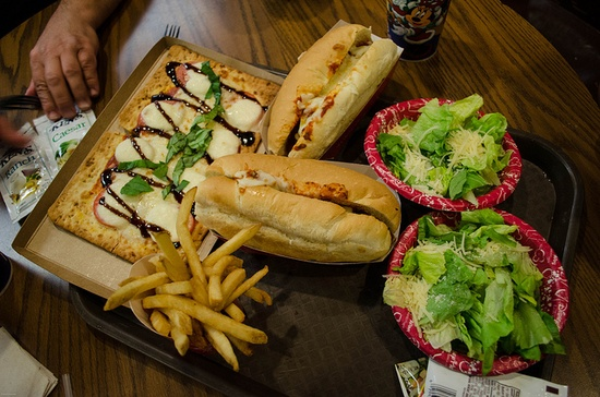 Pinocchio's Village Haus in the Magic Kingdom at Walt Disney World has a tasty menu featuring flatbread pizzas, meatball subs and more.