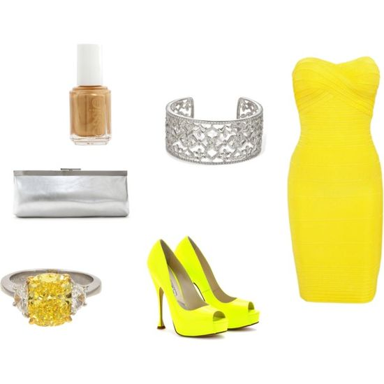 """""""yellow outfit.."""" by robb2 on Polyvore"""