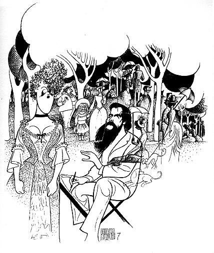 "Al Hirschfeld's ""Sunday in the Park with George"" (7 Ninas)"
