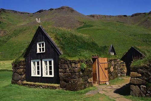 Norweigan Turf Roofed Home