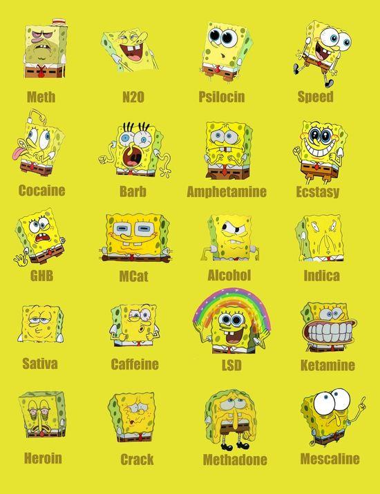Drugs according to Spongebob Squarepants