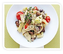 gardein, deliciously meatless foods  Beefless Tips Pasta